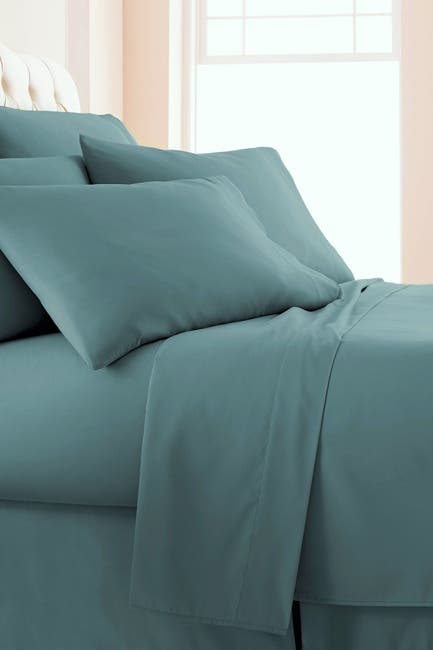 Image of SOUTHSHORE FINE LINENS King Sized Vilano Springs Extra Deep Pocket Sheet Set - Steel Blue