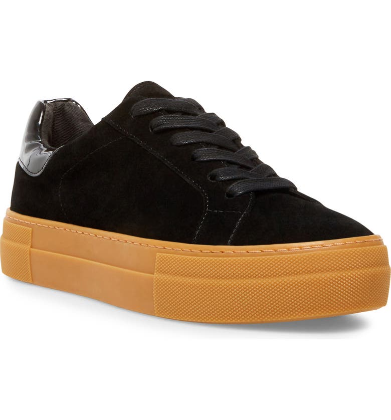 STEVE MADDEN Winnie Harlow x Steve Madden All Now Platform Sneaker, Main, color, BLACK SUEDE