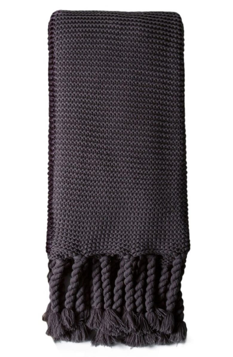 POM POM AT HOME Trestles Oversize Throw Blanket, Main, color, MIDNIGHT