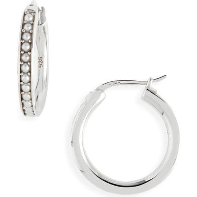 Tom Wood Freshwater Pearl Hoop Earrings