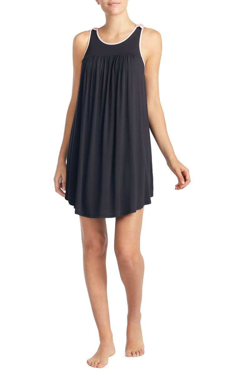 KATE SPADE NEW YORK jersey chemise, Main, color, 001