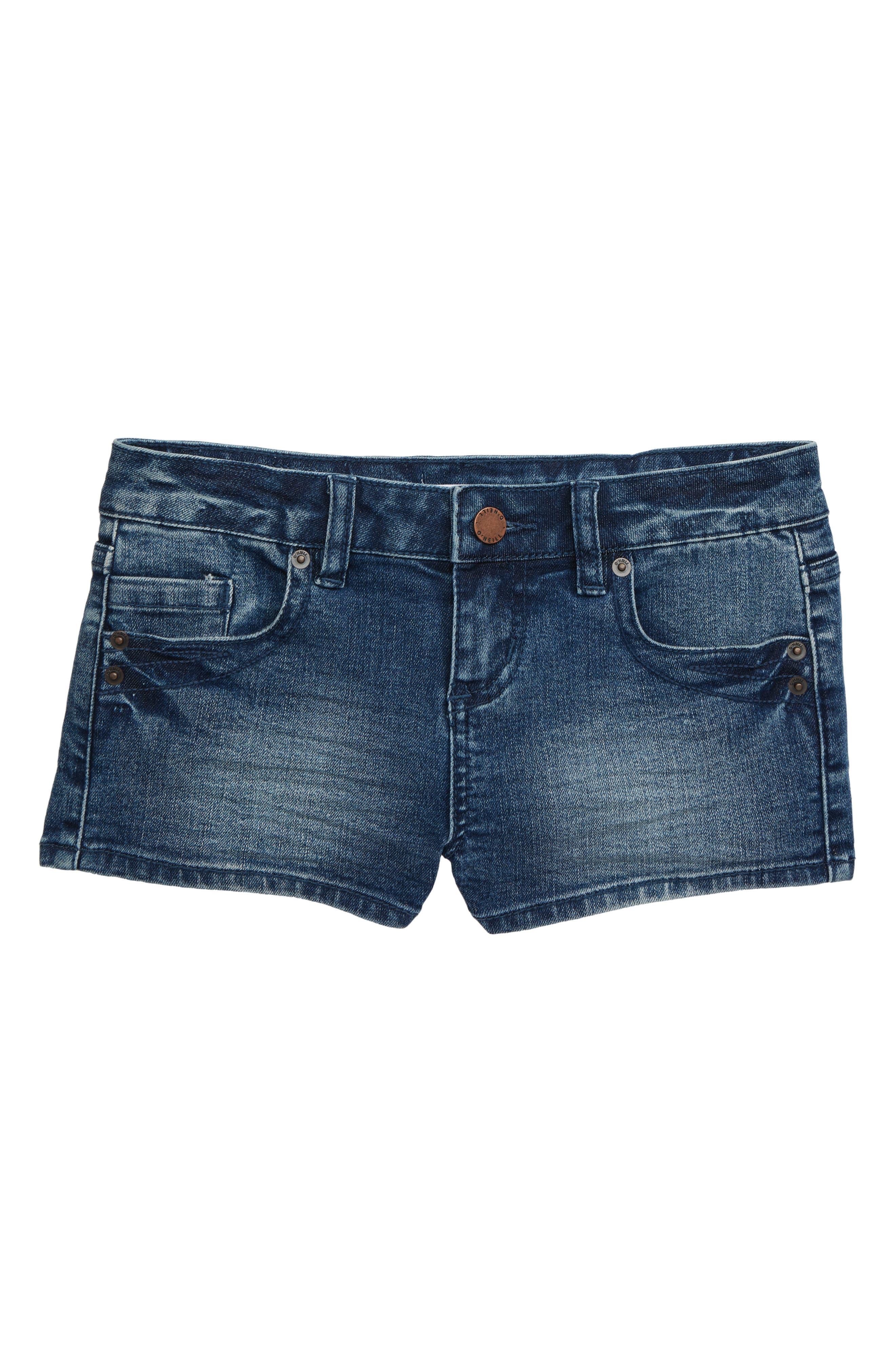 Girls ONeill Waidley 2 Denim Shorts Size 14  Blue