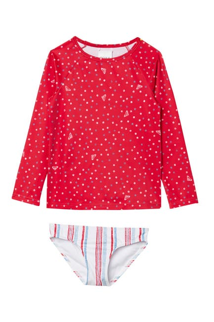 Image of Roxy Lake of Stars Long Sleeve Rashguard & Bottoms Swimsuit Set