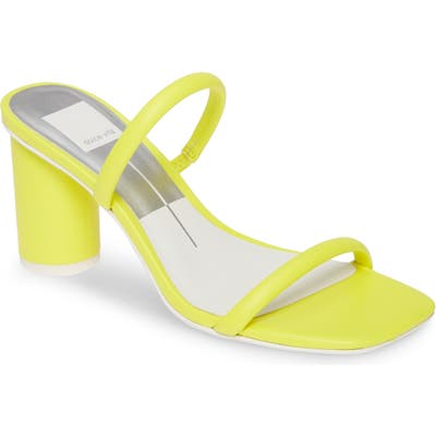 Dolce Vita Noles City Slide Sandal, Yellow