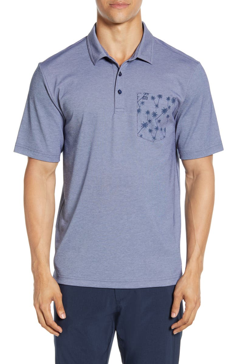 TRAVISMATHEW Flat Foot Regular Fit Short Sleeve Polo, Main, color, 400