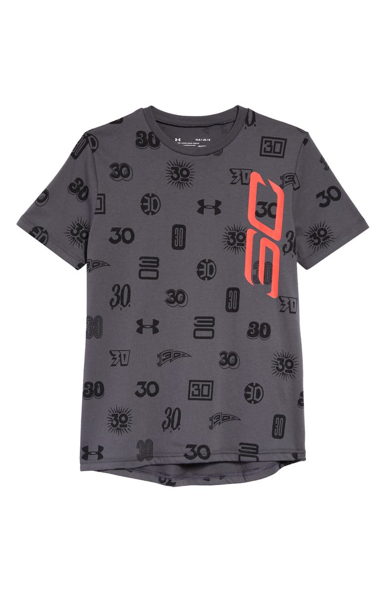 UNDER ARMOUR SC30<sup>™</sup> Allover Print Graphic Tee, Main, color, 020