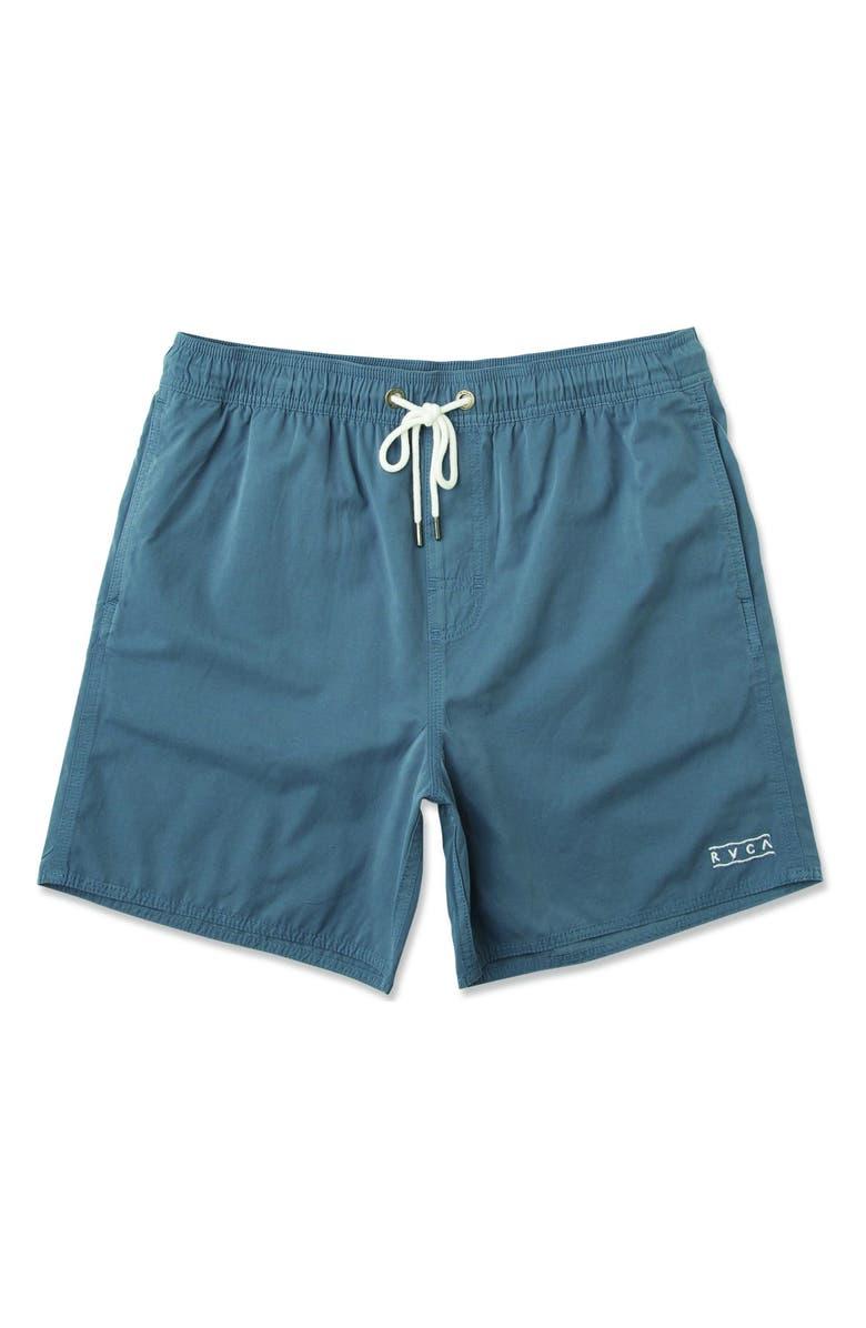 RVCA Gerrard Solid Swim Trunks, Main, color, CHINA BLUE