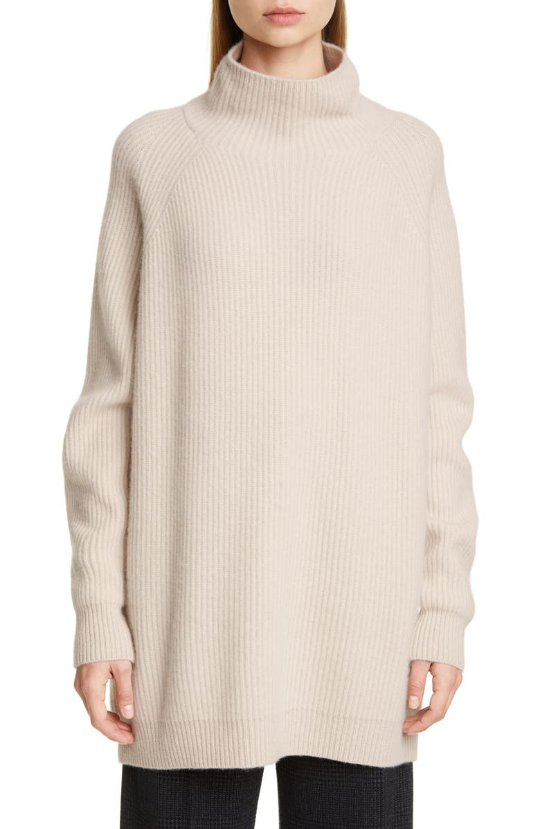 MAX MARA Disco Oversize Funnel Neck Wool & Cashmere Sweater, Main, color, 900