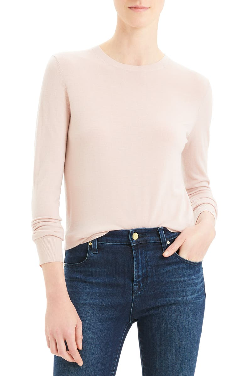 THEORY Regal Wool Blend Crewneck Sweater, Main, color, PALE AMARYLLIS