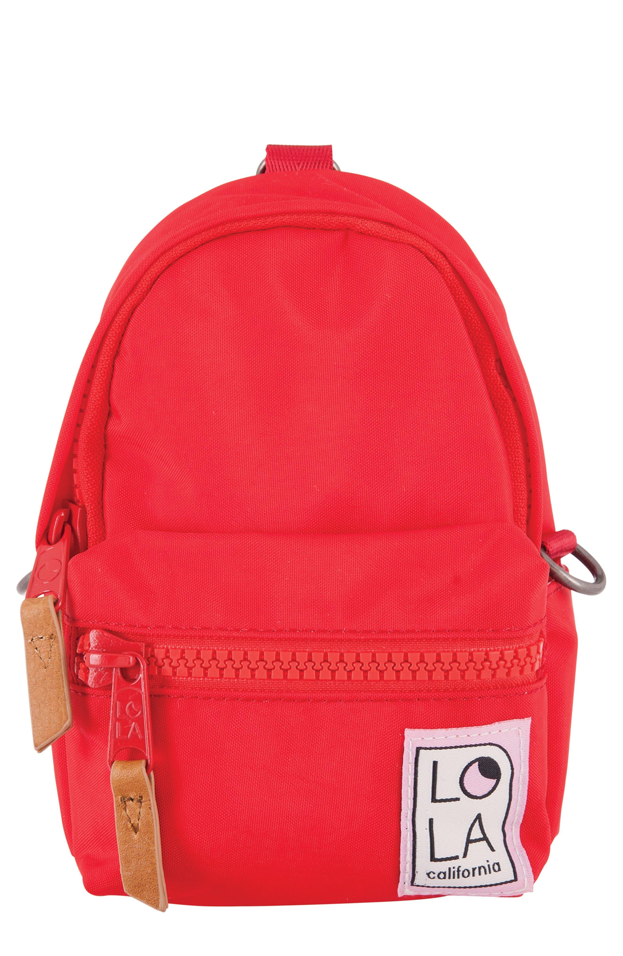 Lola Los Angeles Stargazer Mini Convertible Backpack - Red
