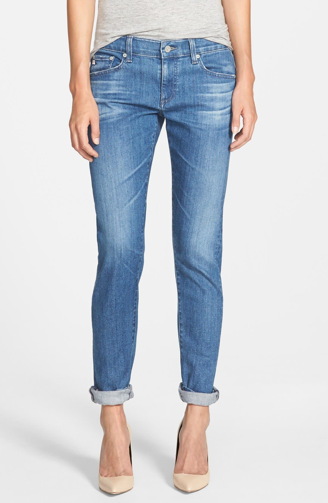 'The Nikki' Relaxed Skinny Jeans, Main, color, 400