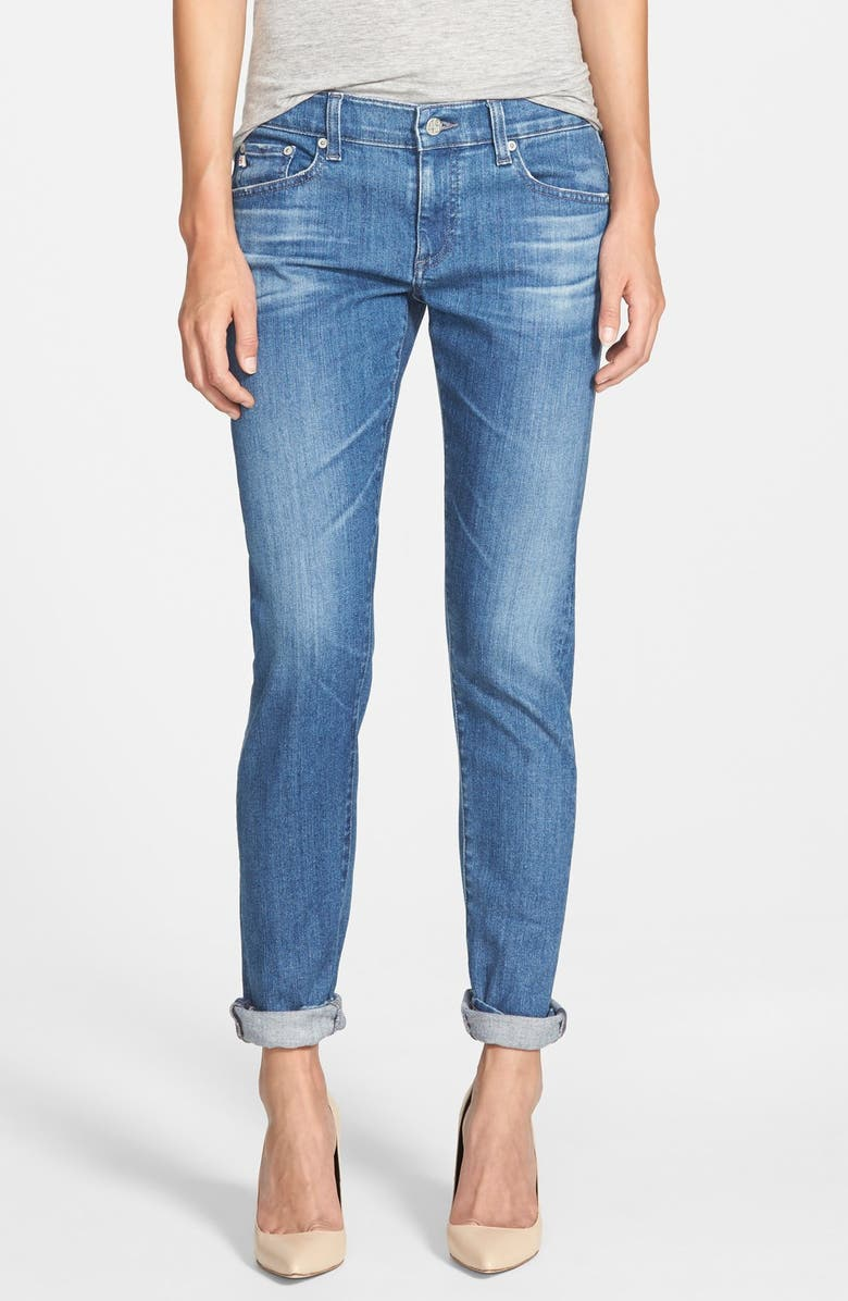 AG 'The Nikki' Relaxed Skinny Jeans, Main, color, 400