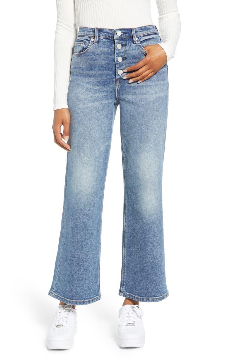 BLANKNYC Wide Leg Crop Jeans, Main, color, 400