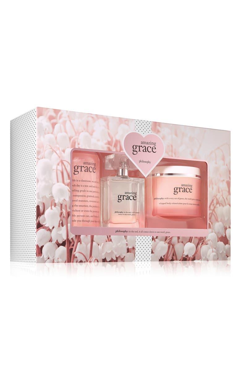 PHILOSOPHY amazing grace eau de parfum set, Main, color, 000
