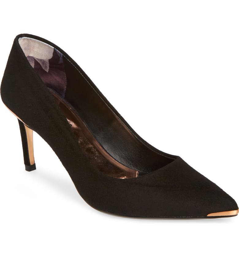 TED BAKER LONDON Wishirs Pump, Main, color, BLACK SUEDE