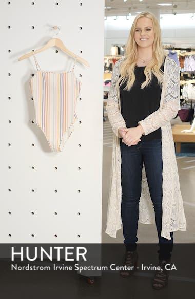 Seersucker Stripe Straight One-Piece Swimsuit, sales video thumbnail