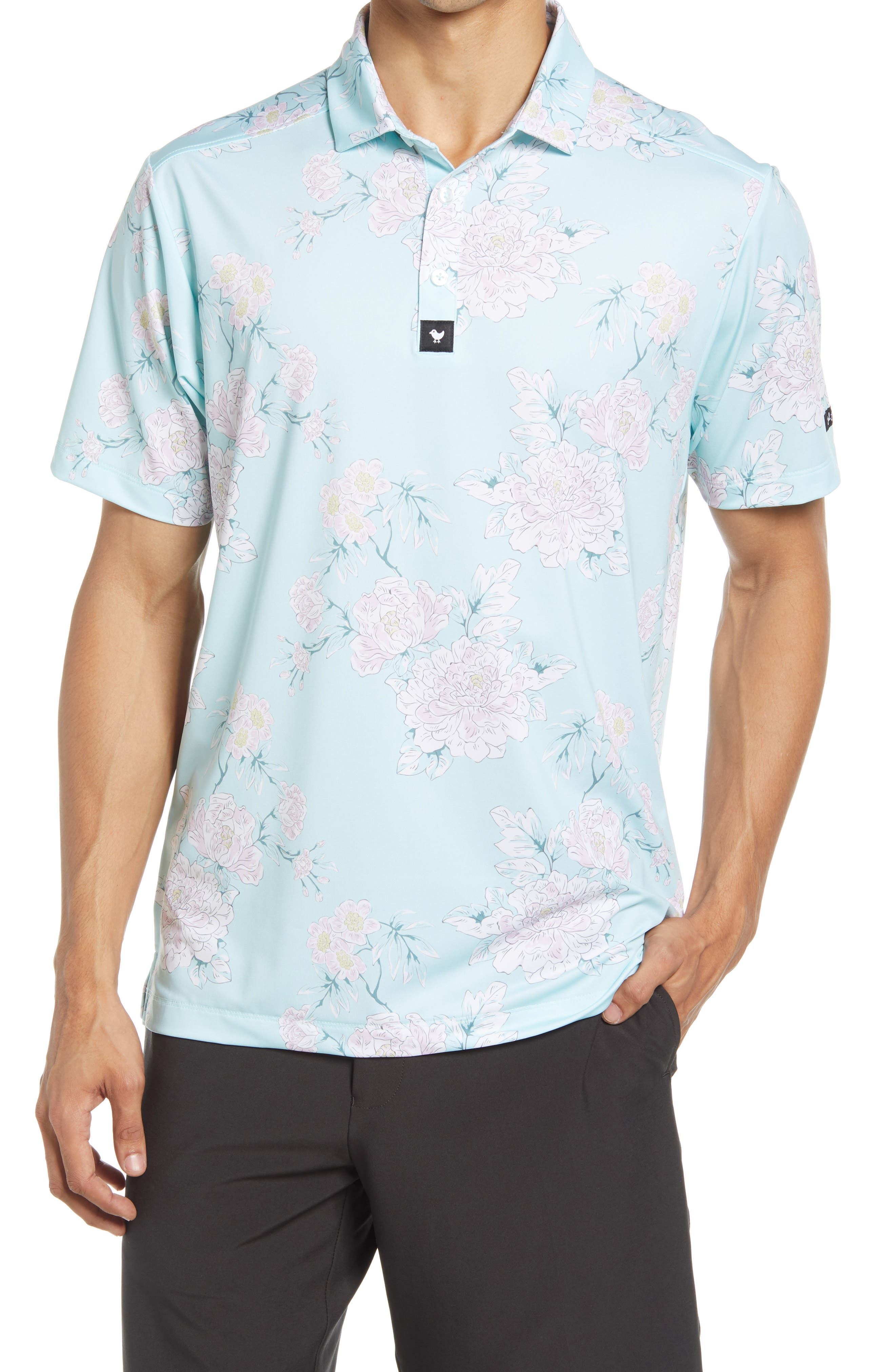 Easy Does It Floral Performance Golf Polo