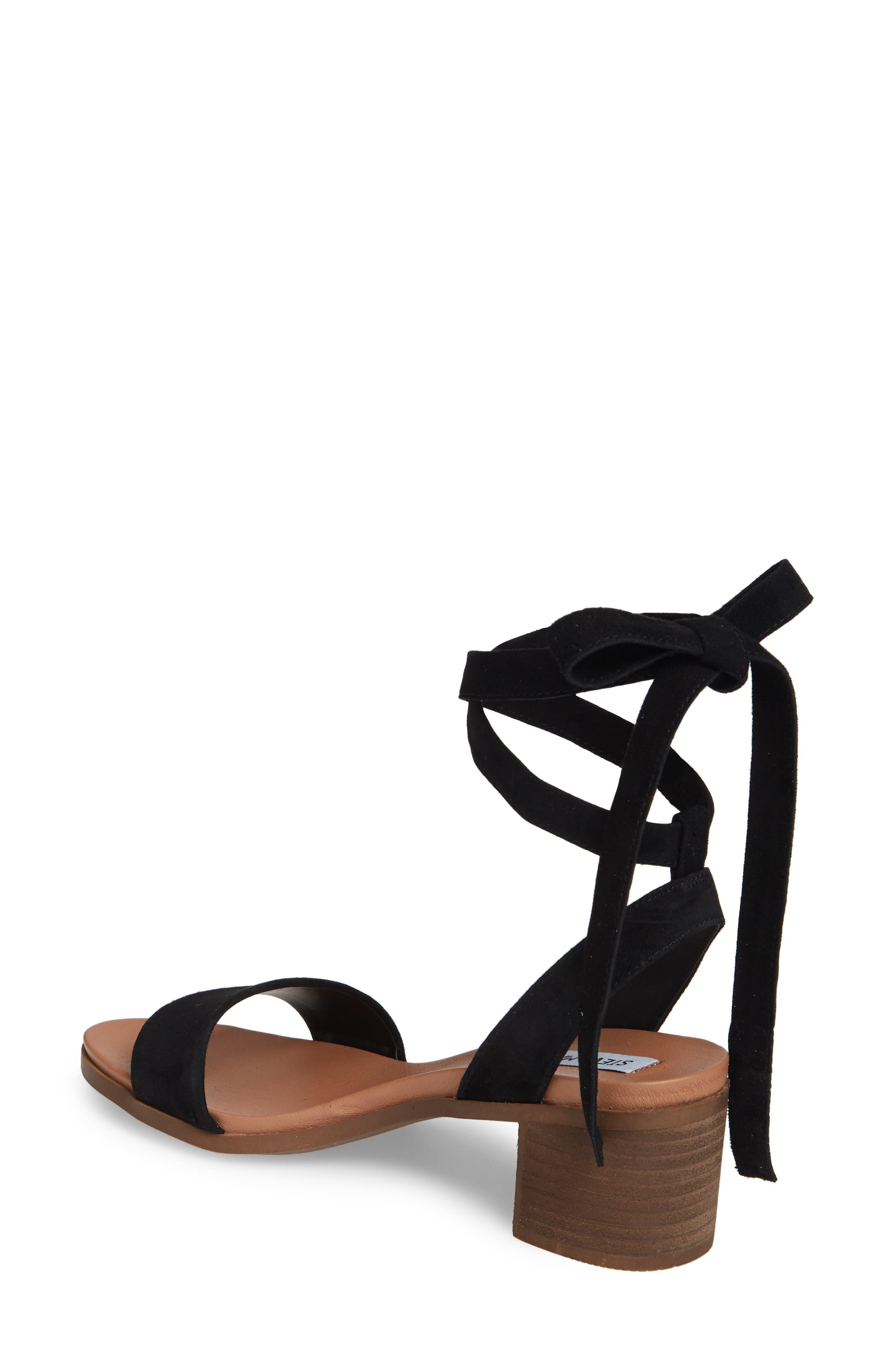 ,                             Adrianne Ankle Wrap Sandal,                             Alternate thumbnail 2, color,                             BLACK SUEDE