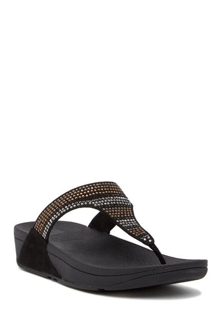 Image of Fitflop Strobe Luxe Embellished Wedge Thong Sandal