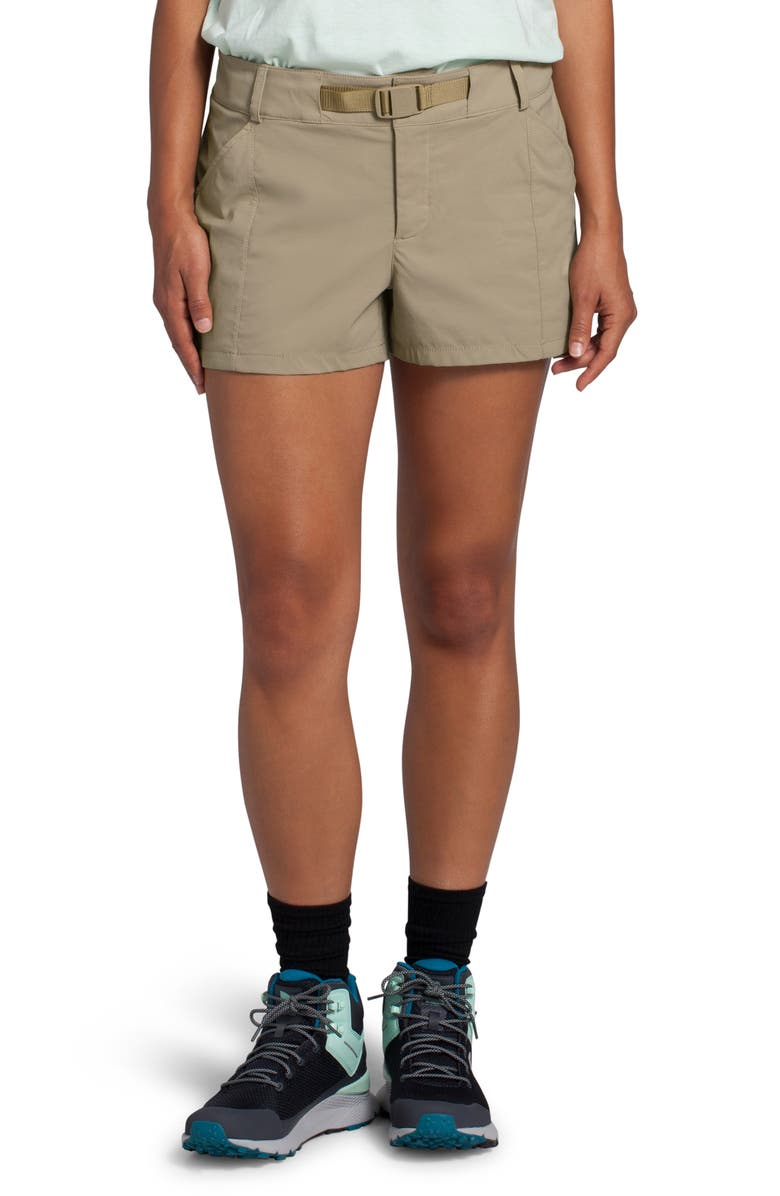 THE NORTH FACE Paramount Active Water Repellent Shorts, Main, color, TWILL BEIGE