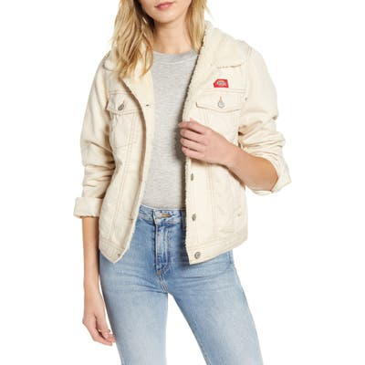 Dickies Fleece Lined Twill Jacket, White