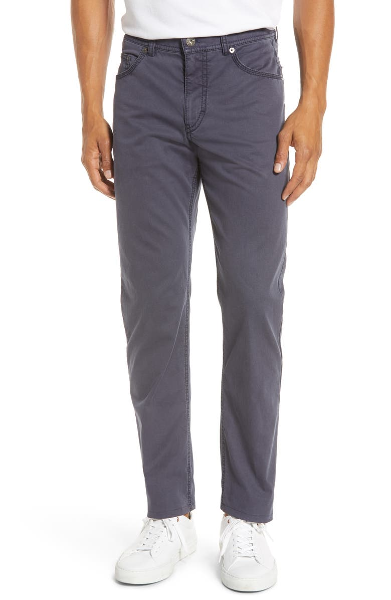 BRAX Diamond Weave Stretch Dress Pants, Main, color, GREY