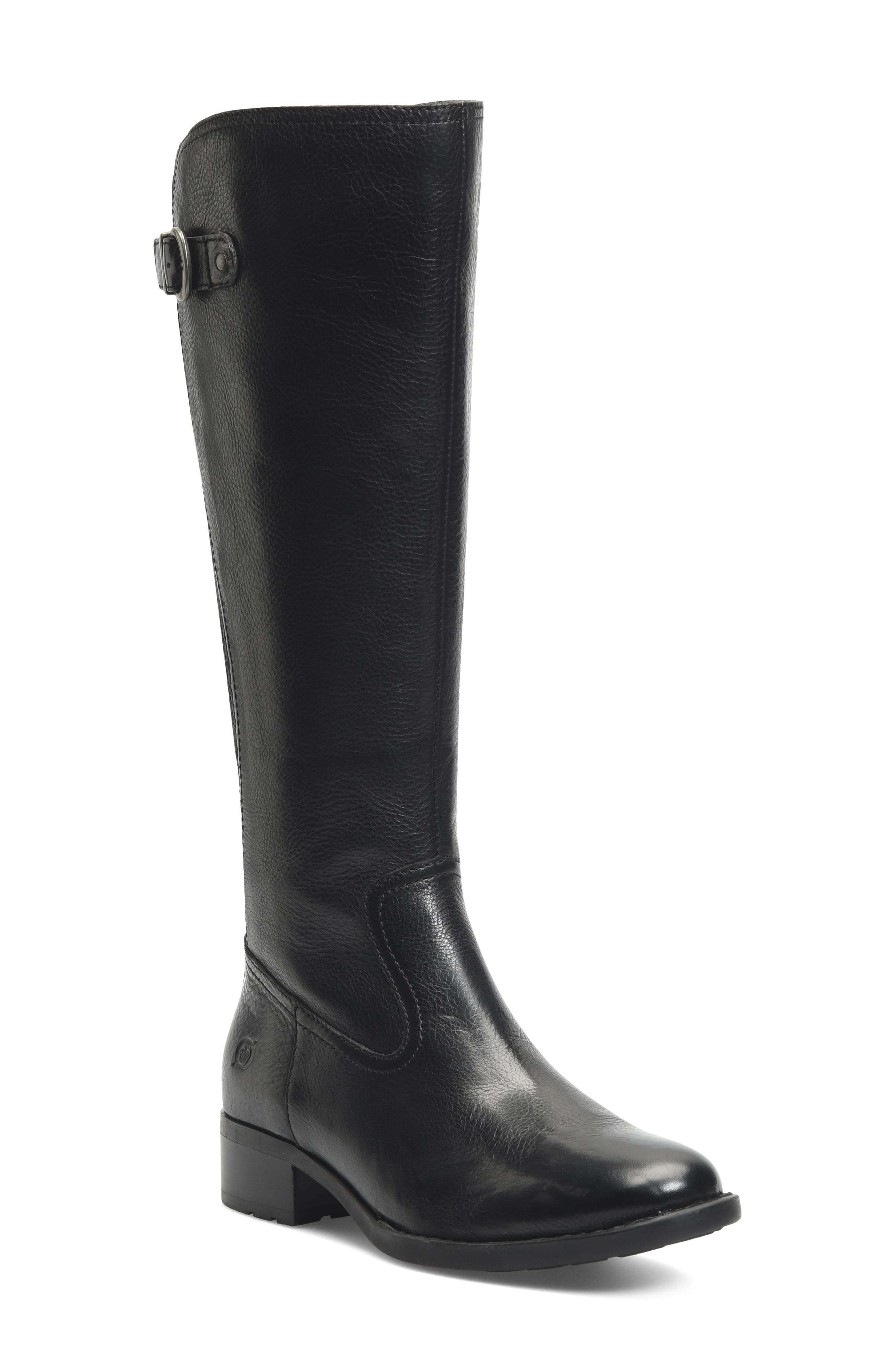Full-shaft goring and an adjustable buckle strap create a streamlined fit in this equestrian-inspired knee-high boot set on a sturdy grip sole. Style Name:B?rn Carran Knee High Boot (Women). Style Number: 6071995. Available in stores.