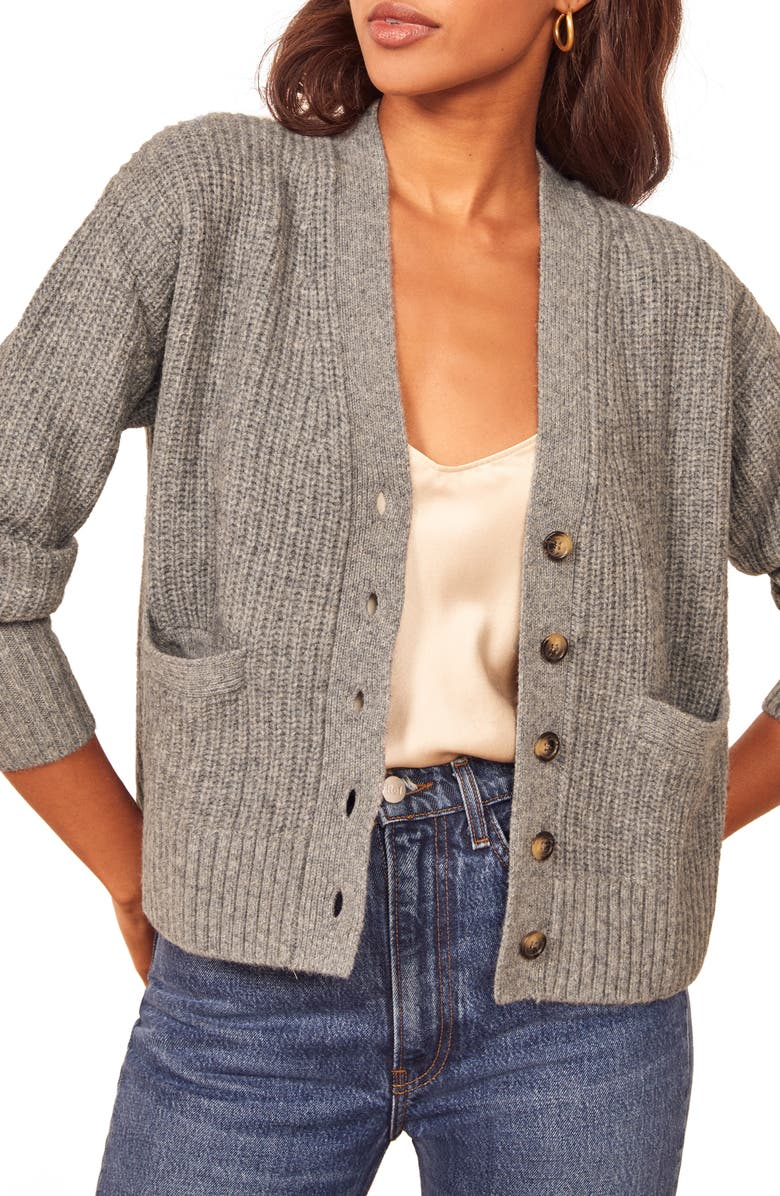 REFORMATION Morgan Cardigan, Main, color, GRAPHITE