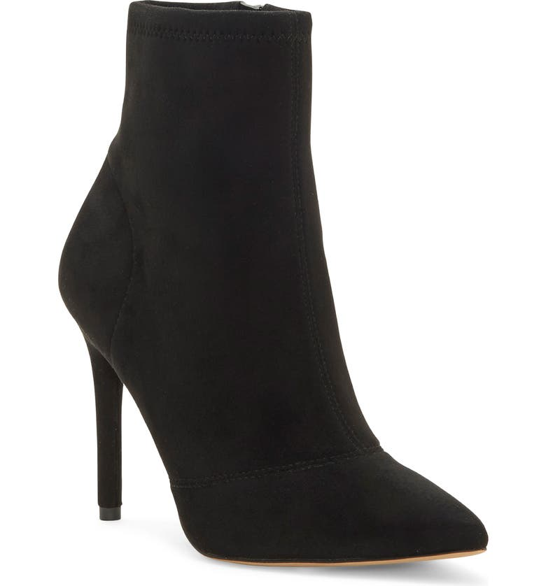 JESSICA SIMPSON Lailra Pointed Toe Stiletto Boot, Main, color, BLACK SUEDE