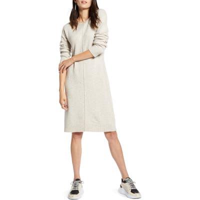 Treasure & Bond Nep Sweater Dress, Beige