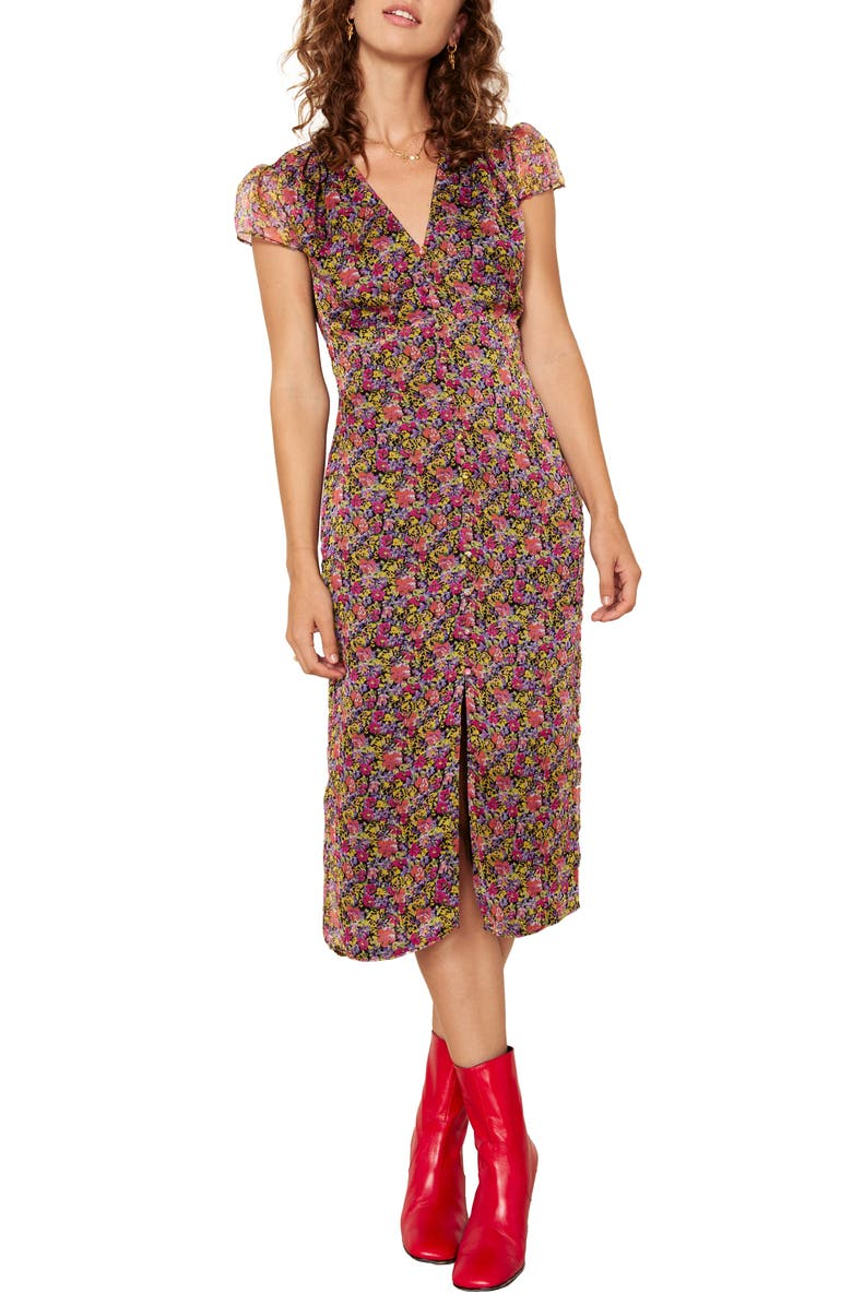 f452155a50716 The East Order Freya Floral Midi Dress | Nordstrom