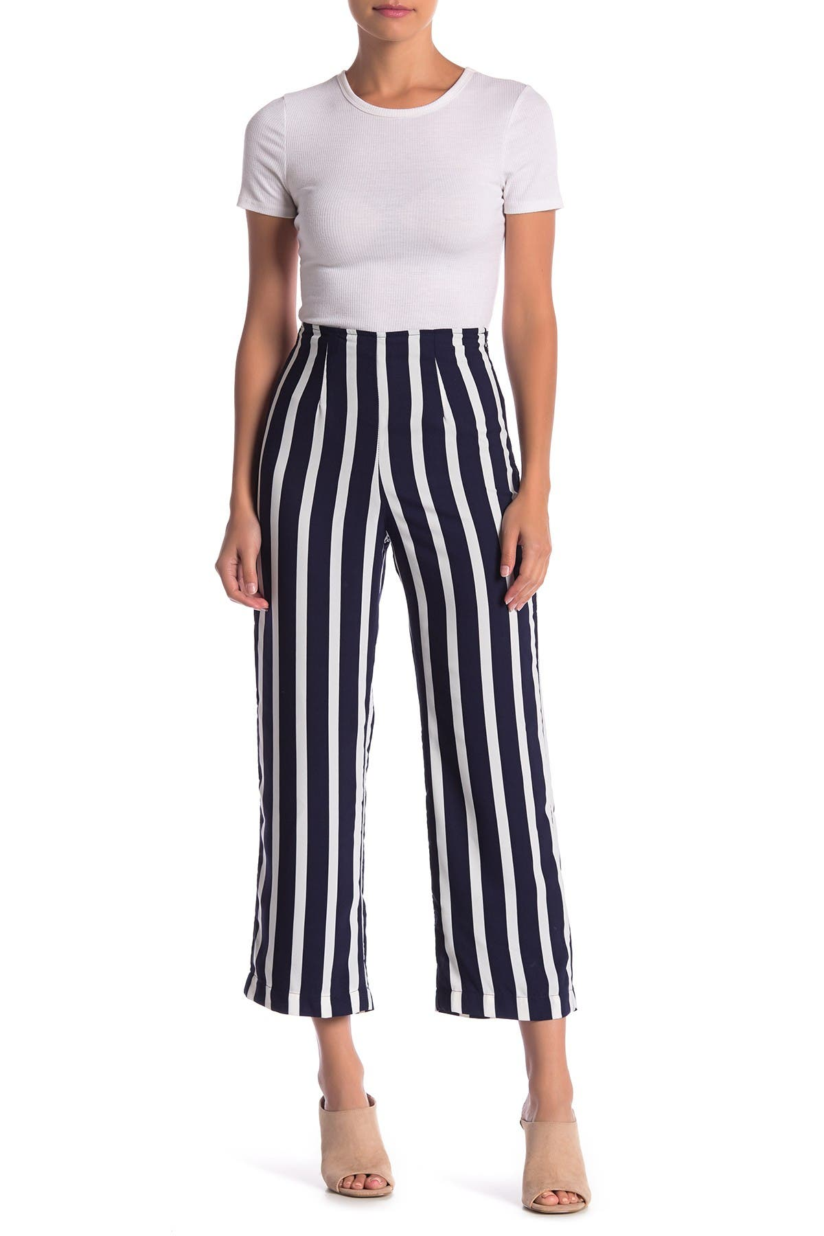 Image of dee elly Striped Palazzo Pants