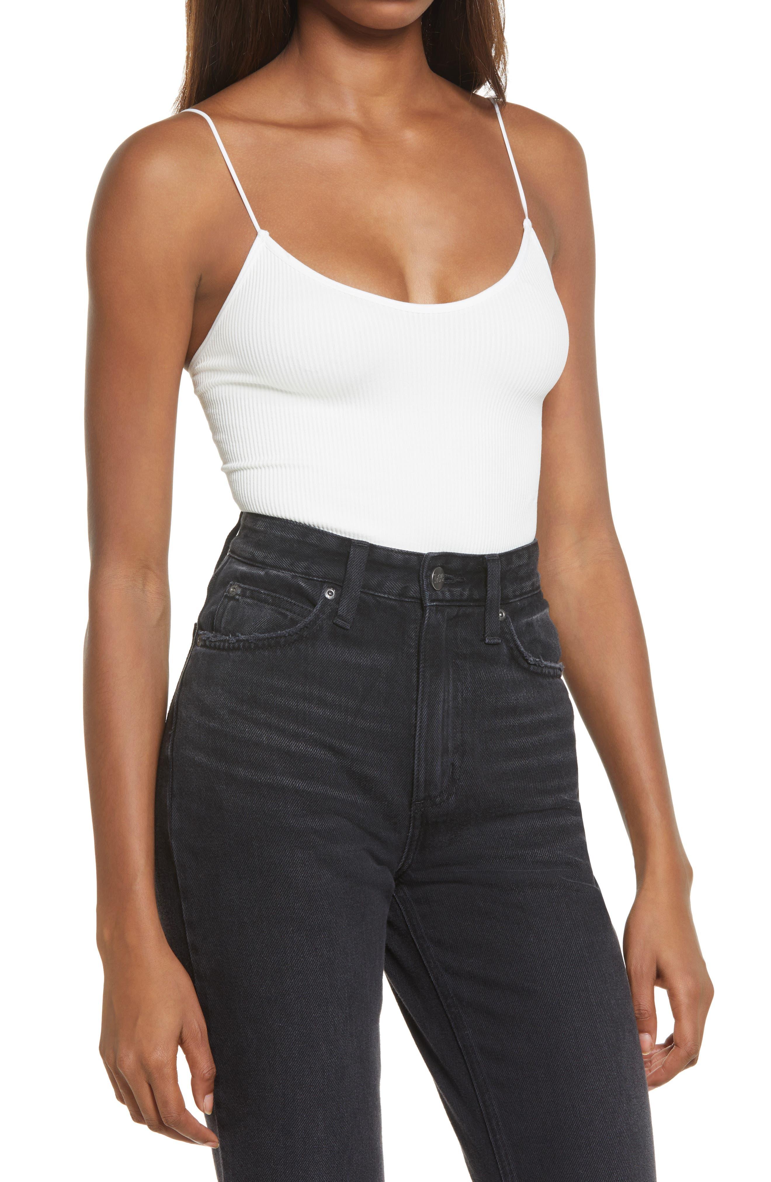 Bungee Strap Sleeveless Bodysuit