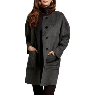 Michael Stars Pamela Portola Double Face Wool Blend Coat, Grey