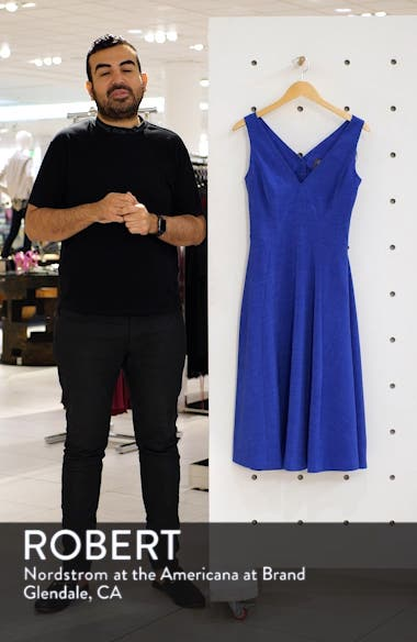 Button Back Fit & Flare Dress, sales video thumbnail