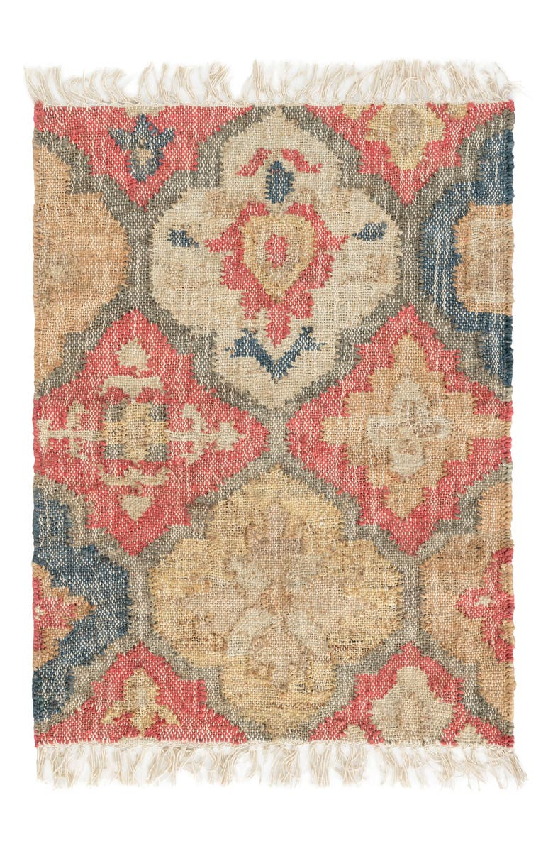 DASH & ALBERT Pali Woven Rug, Main, color, RED