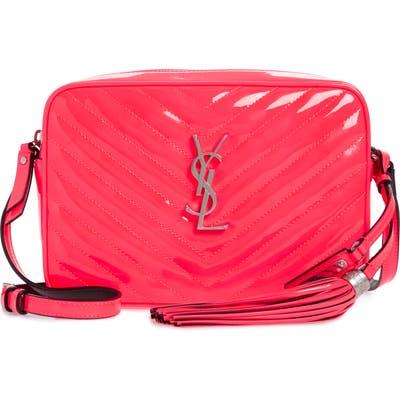 Saint Laurent Lou Matelasse Leather Crossbody Bag - Pink