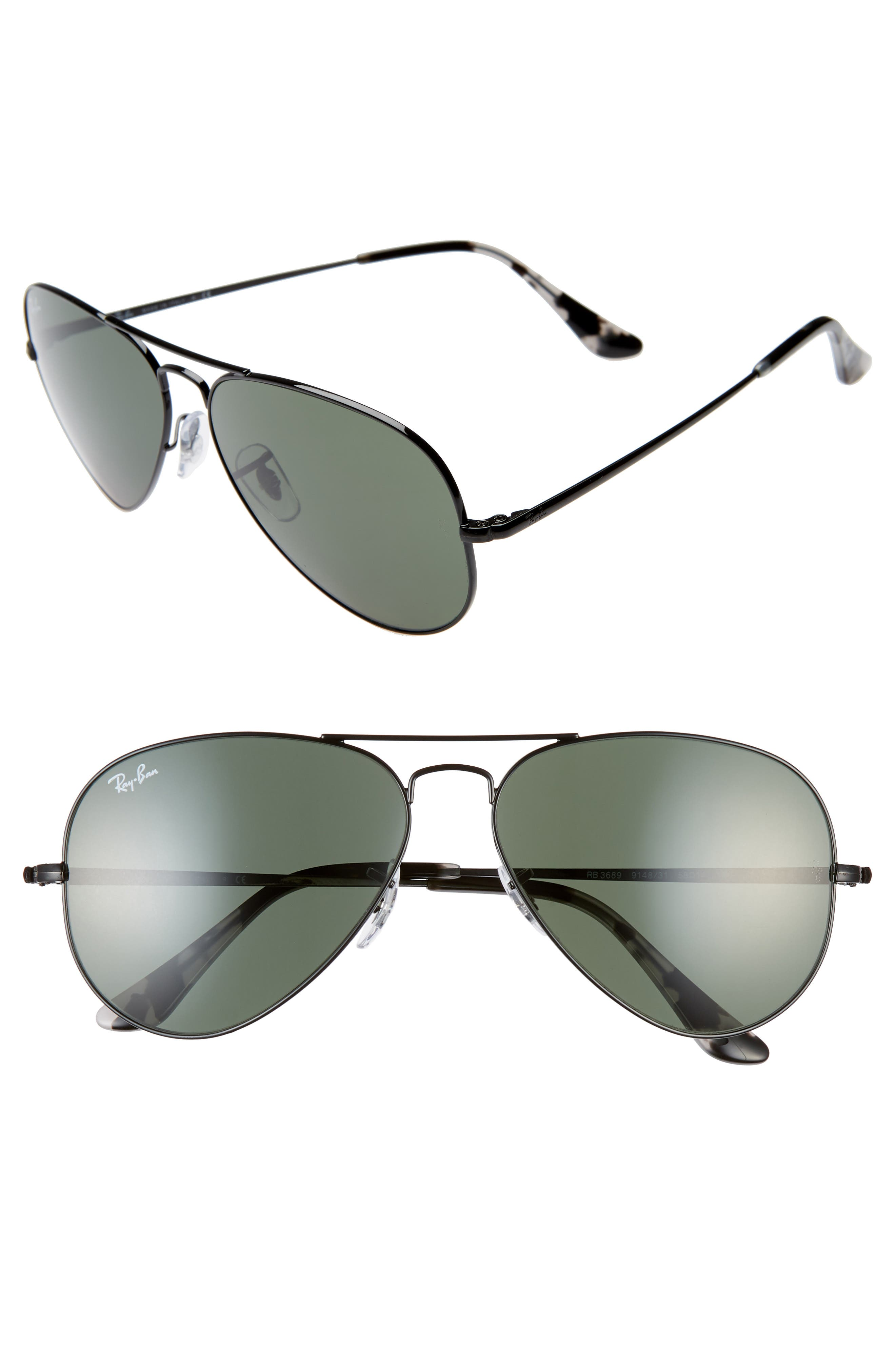Ray-Ban 5m Aviator Sunglasses - Black/ Black Solid