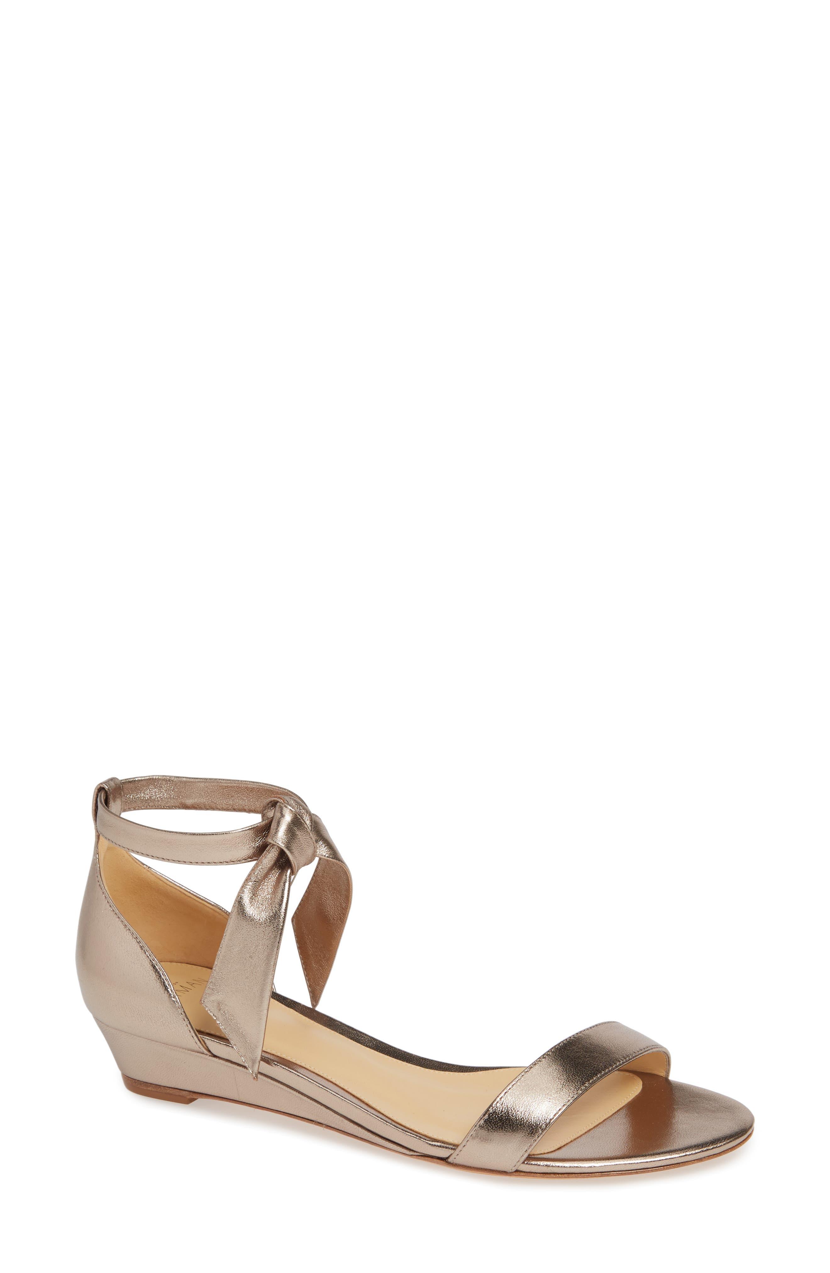 Alexandre Birman Clarita Wedge Sandal, Metallic