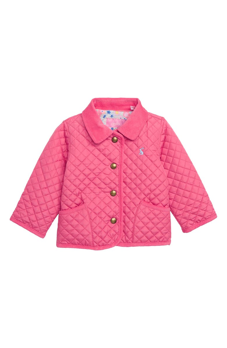 JOULES Mabel Quilted Barn Jacket, Main, color, HOT PINK