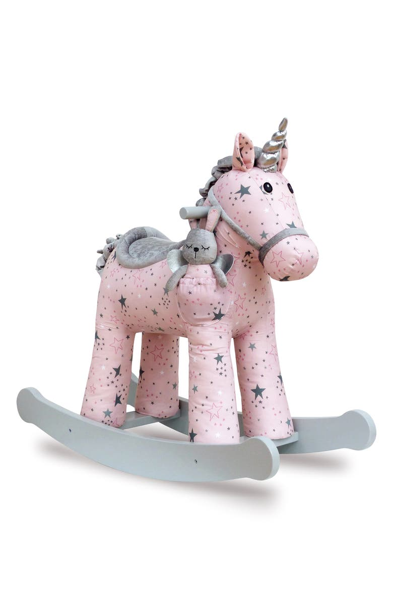 LITTLE BIRD TOLD ME Celeste & Fae Rocking Horse & Stuffed Animal, Main, color, 650