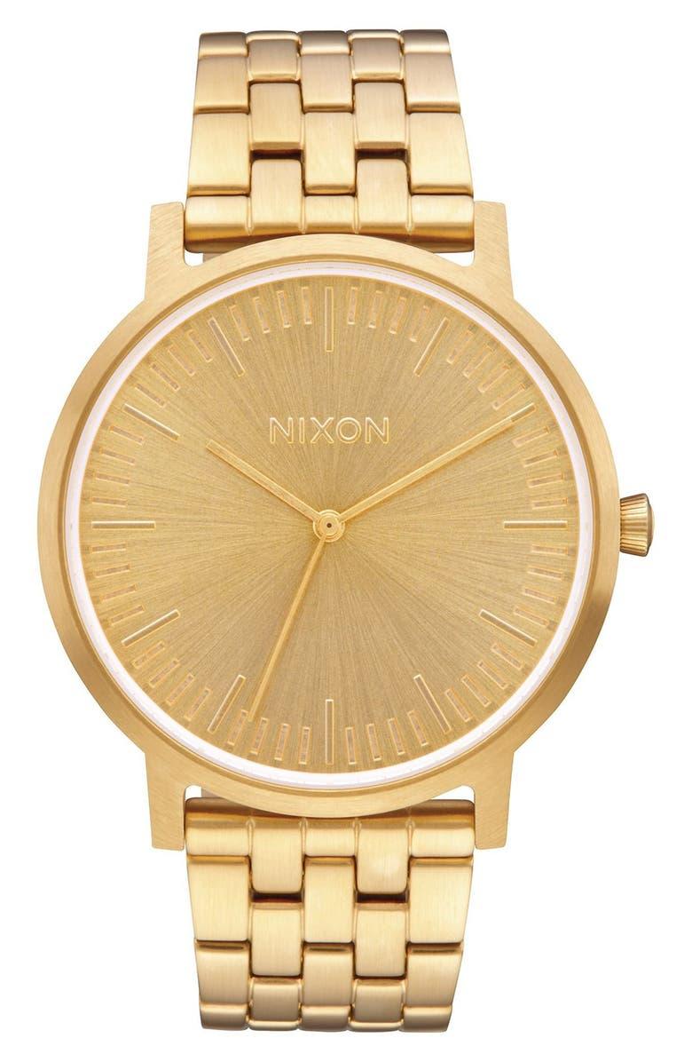 NIXON The Porter Bracelet Watch, 40mm, Main, color, 712