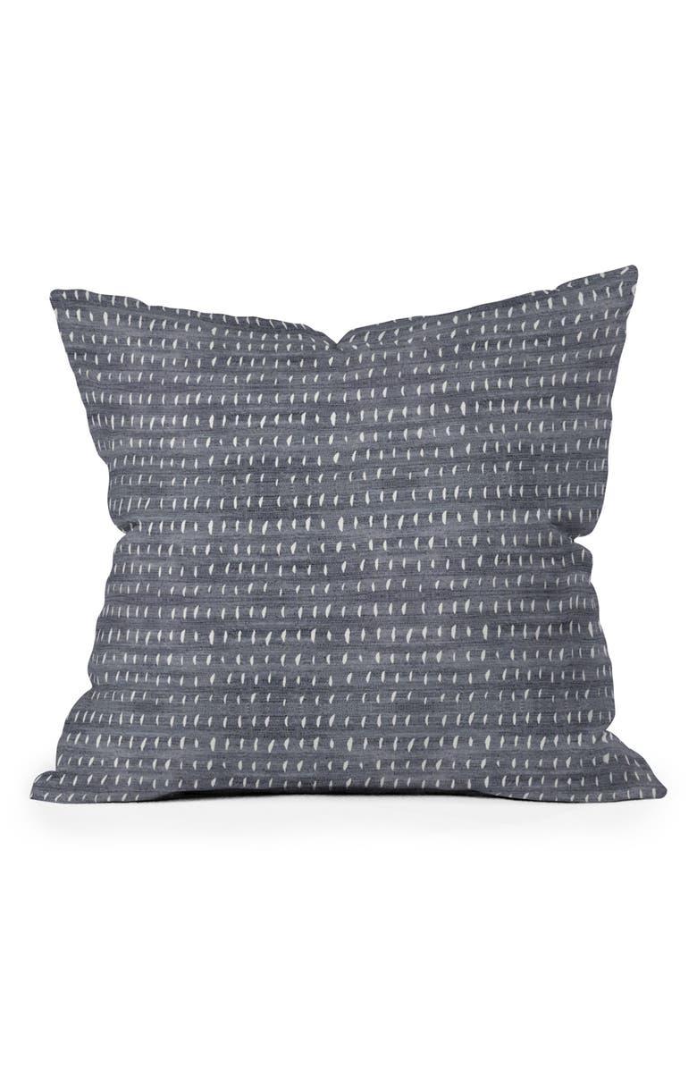 DENY DESIGNS 16-Inch Square Accent Pillow, Main, color, DENIM RAIN