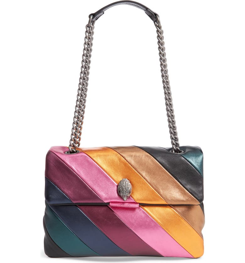 KURT GEIGER LONDON Large Soho Rainbow Leather Shoulder Bag, Main, color, 650