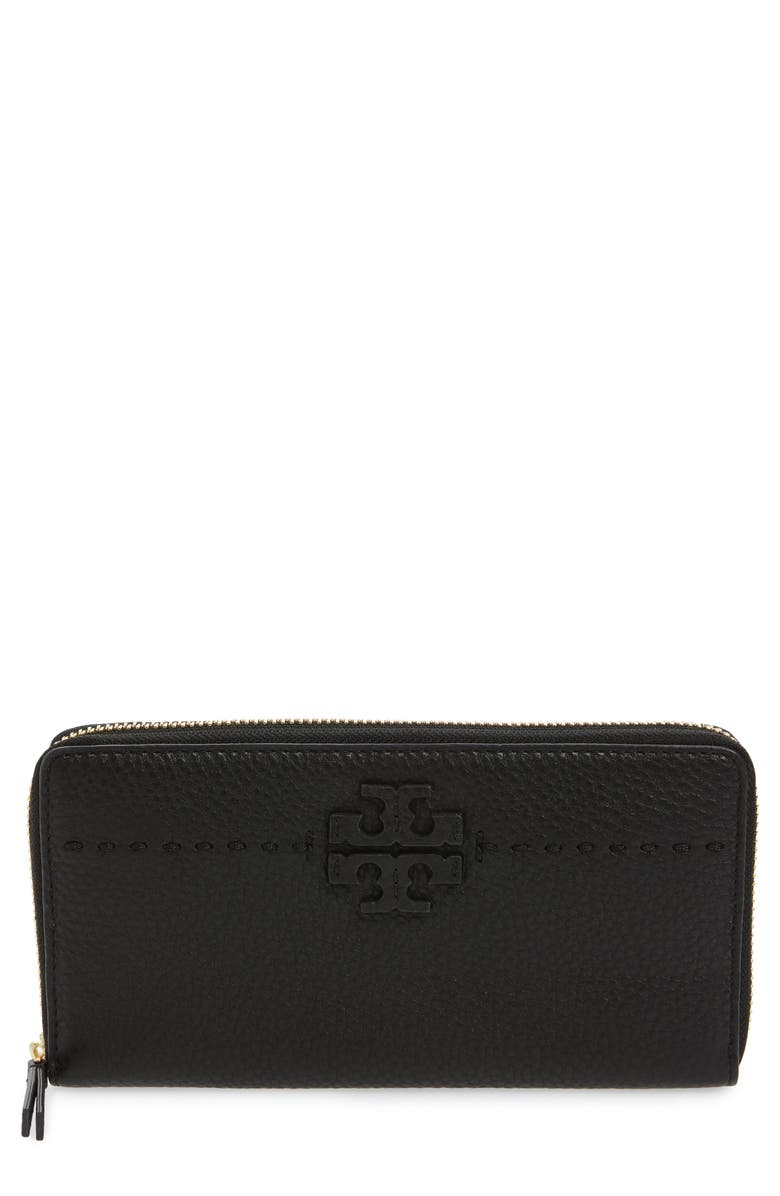 38c31ffc200 Tory Burch McGraw Leather Continental Zip Wallet | Nordstrom