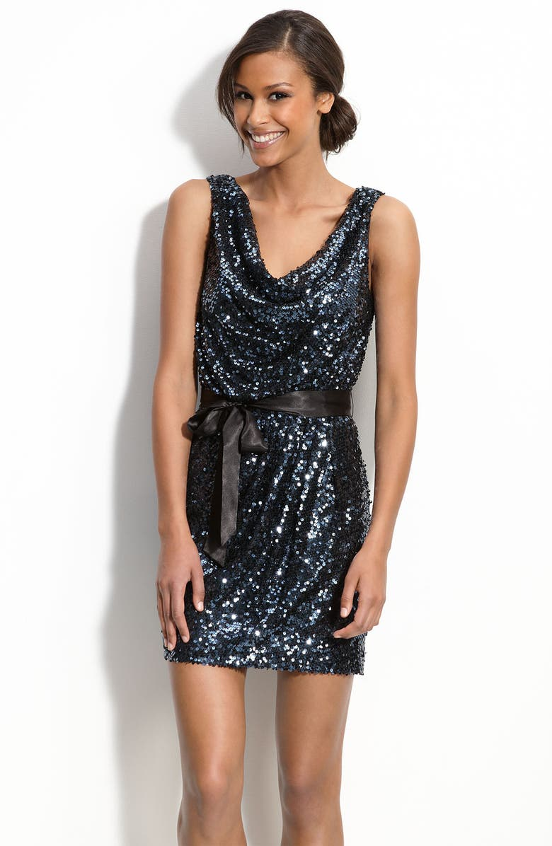 AIDAN MATTOX Aidan by Aidan Mattox Sequin Sheath Dress, Main, color, 400