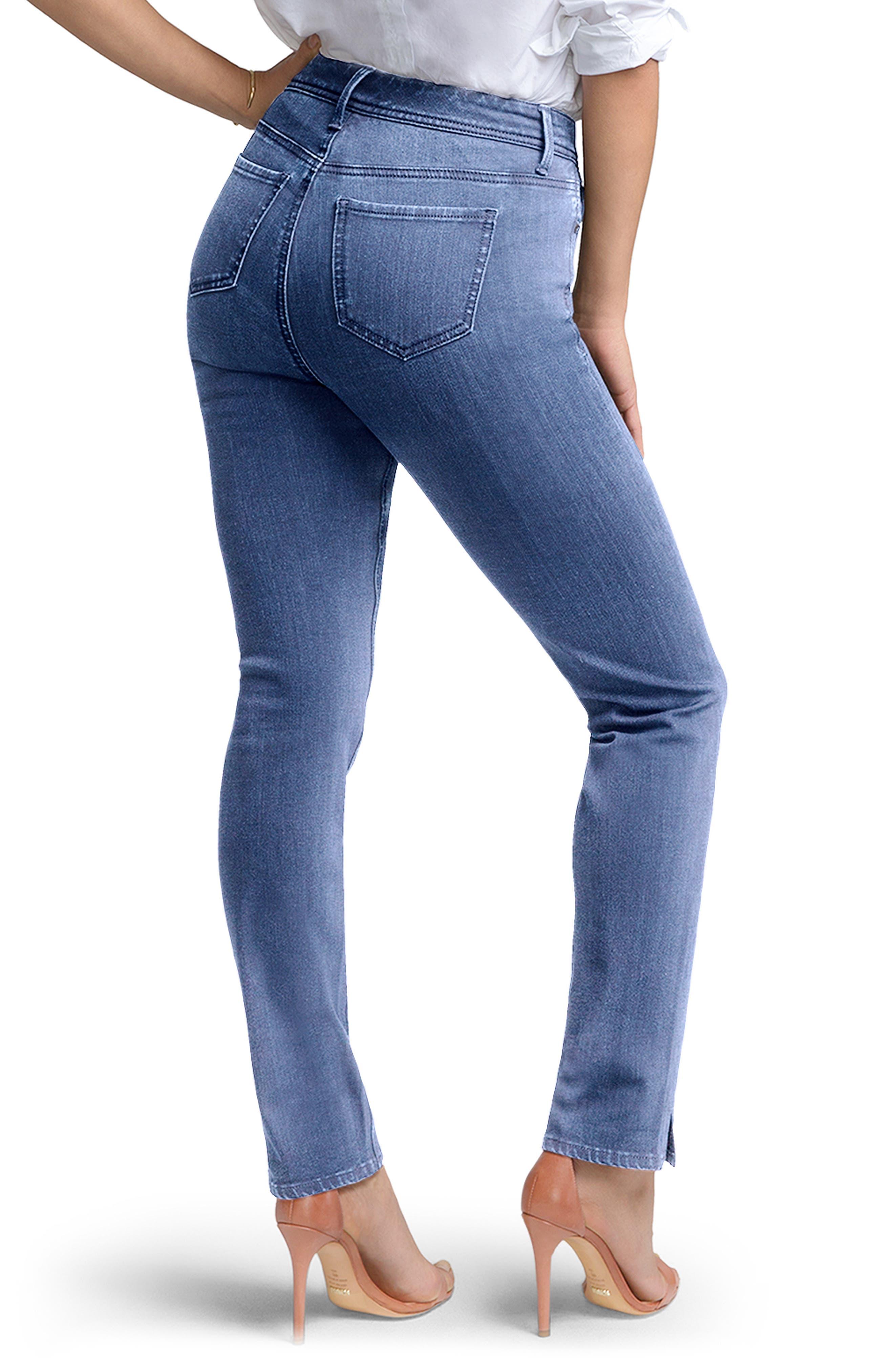 ,                             Slim Ankle Straight Leg Jeans,                             Alternate thumbnail 2, color,                             AQUINO