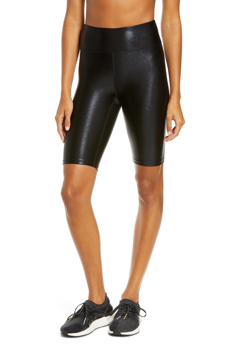 HEROINE SPORT Marvel Bike Shorts, Main, color, ONYX