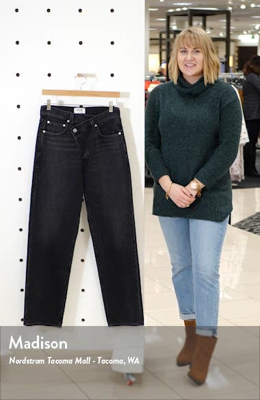 Criss Cross Upsize High Waist Nonstretch Jeans, sales video thumbnail
