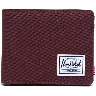 Herschel Supply Co. Hank Rfid Bifold Wallet - Burgundy